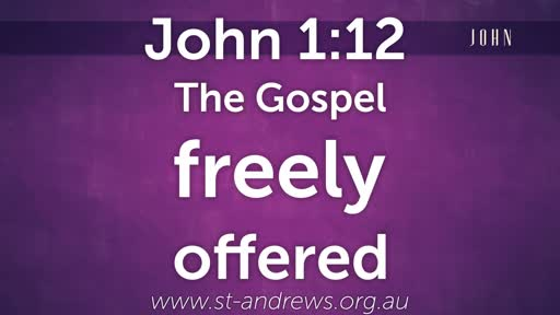 The Gospel freely offered.