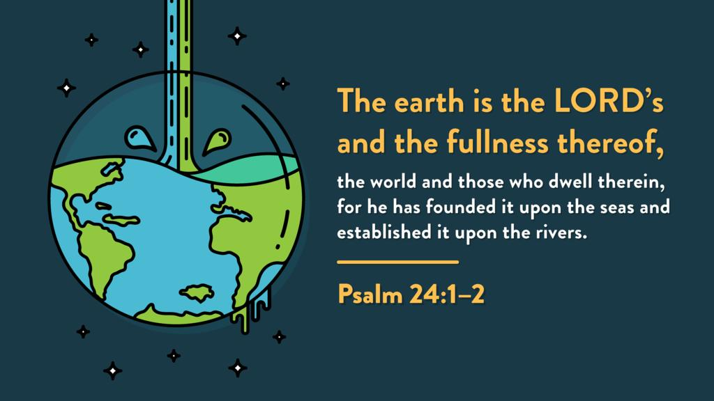 Psalm 24:1–2 large preview