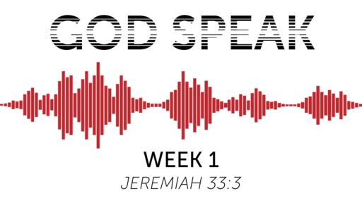 God Speak - Week 1
