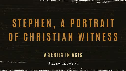 Stephen, a Portrait of Christian Witness