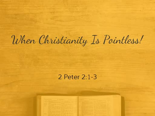 When Christianity is Pointless