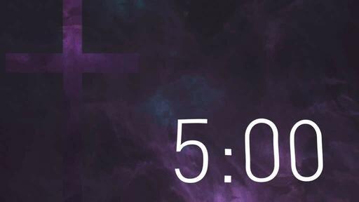 Purple Cross Texture - Countdown 5 min