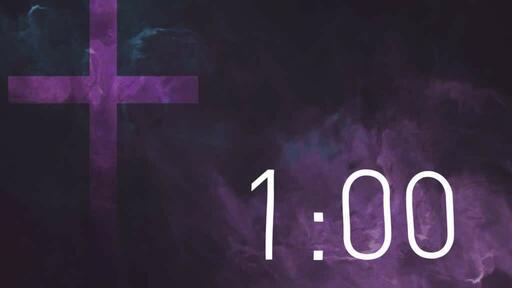 Purple Cross Texture - Countdown 1 min