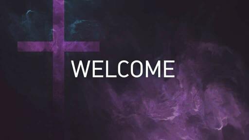 Purple Cross Texture - Welcome