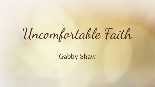 Uncomfortable Faith - 29 June 2019