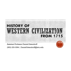 Western Civilization from 1715