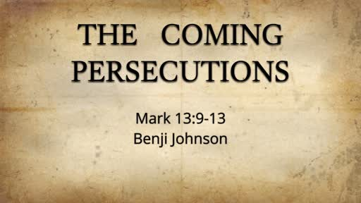 The Coming Persecutions
