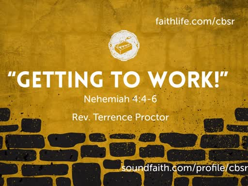 """6.30.19 """"Getting to Work!"""" - 1st Service"""