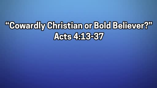Cowardly Christian or Bold Believer? - June 30, 2019