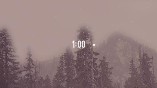 Snowy Mountains - Countdown 1 min