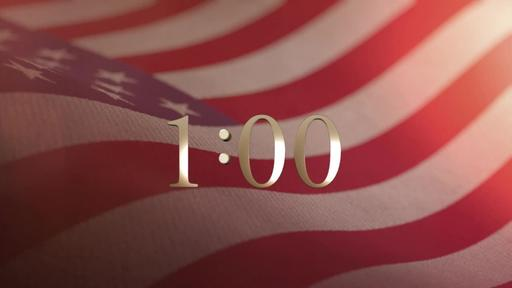 American Flag - Countdown 1 min