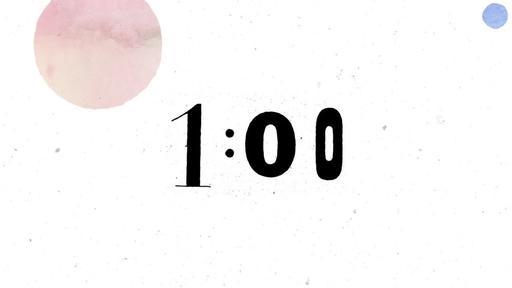 Watercolor Splashes - Countdown 1 min