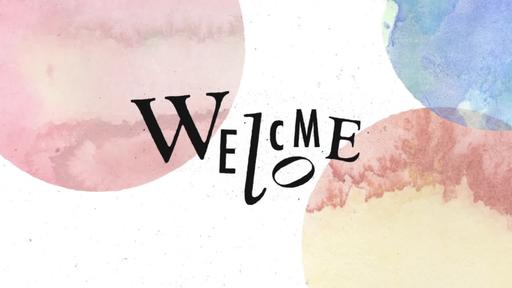 Watercolor Splashes - Welcome