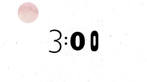 Watercolor Splashes - Countdown 3 min