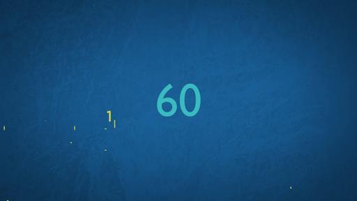 Blue Drawings - Countdown 1 min