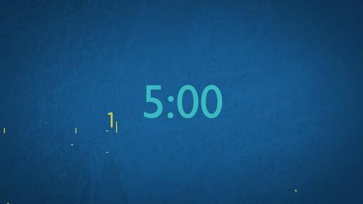 Blue Drawings - Countdown 5 min