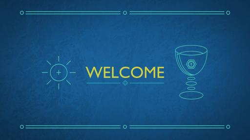 Blue Drawings - Welcome