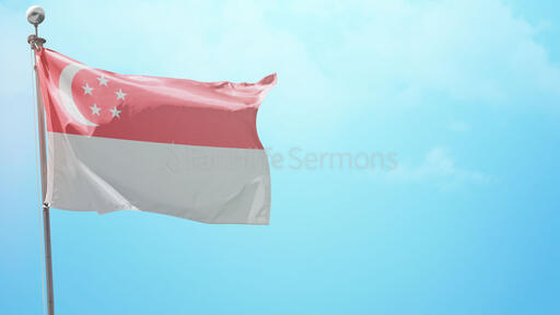 Happy National Day Flag