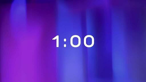 Purple Blur - Countdown 1 min