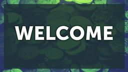 Green Money welcome PowerPoint Photoshop image