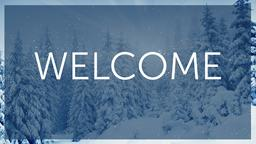 Winter Forest welcome PowerPoint Photoshop image