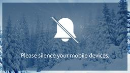 Winter Forest phones PowerPoint Photoshop image