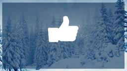 Winter Forest facebook PowerPoint Photoshop image