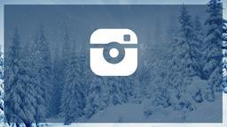 Winter Forest instagram PowerPoint Photoshop image