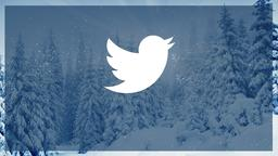 Winter Forest twitter PowerPoint Photoshop image