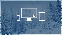 Winter Forest website PowerPoint Photoshop image