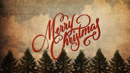 Vintage Christmas Trees  PowerPoint Photoshop image 1