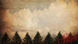 Vintage Christmas Trees content a PowerPoint Photoshop image