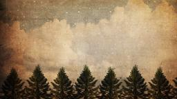 Vintage Christmas Trees sermon title PowerPoint Photoshop image