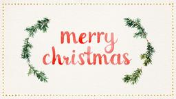 Watercolor Christmas Wreath  PowerPoint Photoshop image 1
