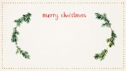 Watercolor Christmas Wreath header subheader PowerPoint Photoshop image
