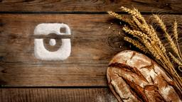 Wheat and Bread instagram PowerPoint Photoshop image