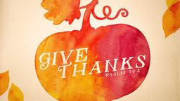Give Thanks PowerPoint Photoshop image