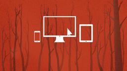 Silhouette Forest website PowerPoint Photoshop image