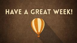 Kraft Air Balloon have a great week! PowerPoint Photoshop image
