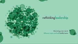 Green Circles rethinking leadership PowerPoint Photoshop image