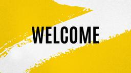 Yellow and White welcome PowerPoint Photoshop image