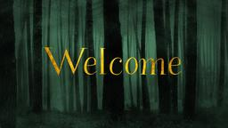 Dark Woods welcome PowerPoint Photoshop image