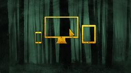Dark Woods website PowerPoint Photoshop image