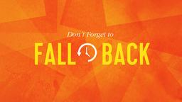 Fall Back PowerPoint Photoshop image