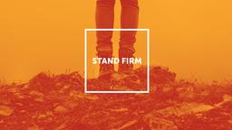 Orange Rock stand firm PowerPoint Photoshop image