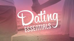 Romantic Beach dating essentials PowerPoint Photoshop image