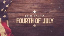 Retro Flag happy fourth of july PowerPoint image