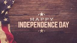 Retro Flag happy independence day PowerPoint image