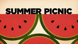 Textured Watermelon summer picnic PowerPoint image