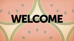 Textured Watermelon welcome PowerPoint image